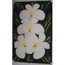 olie maleri fra Bali: Hvid Lotus