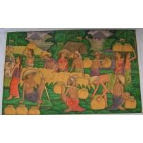 olie maleri fra Bali: Arbejder