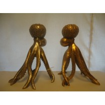 blæksprutte guld-lysestager