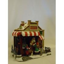 børn ved julemandens butik