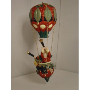 Original julepynt: Julemanden i sin luftballon