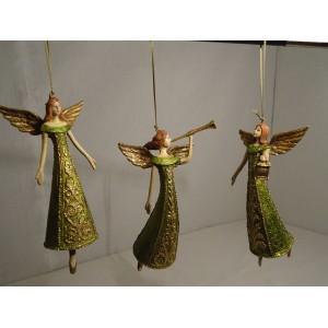 sæt med 3 grønne engle