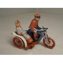 motorcykel med passagier