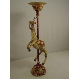 Giraf på lysestage rød